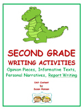 Second Grade Writing: Standards Based Activities