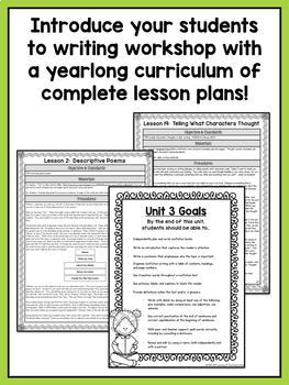 Second Grade Writing Workshop Curriculum Bundle