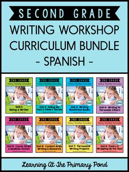 Spanish Writing Workshop Curriculum Bundle for Second Grade