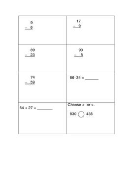 Second Grade Written Math Test