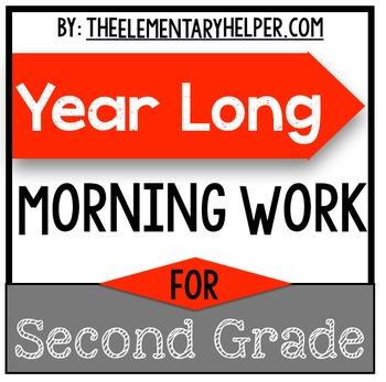 Second Grade Year Long Morning Work