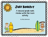 Second Grade Year Math Review Write the Room