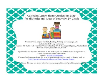Second Grade Yearly Map aligned with Common Core