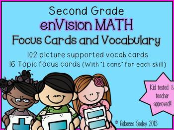 Second Grade: enVisions Essential Questions and Vocabulary Cards