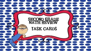 Second Grade math review task cards