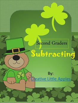 Second Graders - {March} Shamrock Subtraction - Single & T