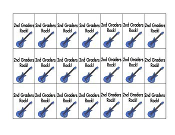 Second Graders Rock! Brag Tags
