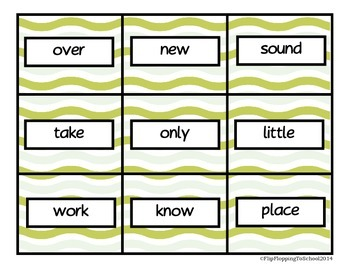 Second Hundred Fry Sight Word Printable Cards