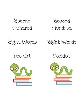 Second Hundred Sight Words booklet and activities