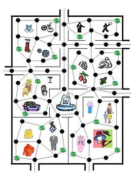 Second Language Board Game (Shop Till You Drop)