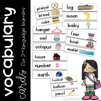 Second Language Learner Vocab Cards { ELL } set 1