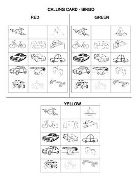 Second Language Part 3 of 3: Transportation unit - class set of bingo cards