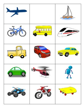 Second Language Transportation Part 1 of 3: - games and vocabulary
