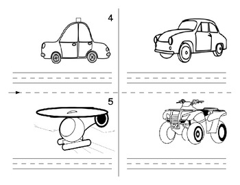 Second Language Transportation Part 2 of 3:  primary booklet
