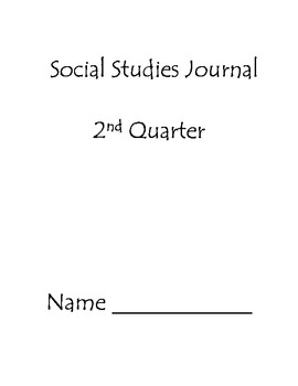 Second Quarter Social Studies Journal Second Grade