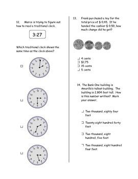 Second Six Weeks Math Assessment