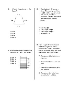 Second Six Weeks Math Assessment (test 2)