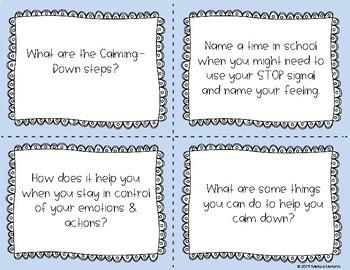Second Step -Emotion Management- Discussion Cards (SEL) Grades 4-5