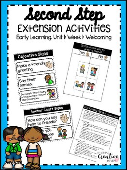 Second Step Extension Activities Unit 1 Week 1: Welcoming