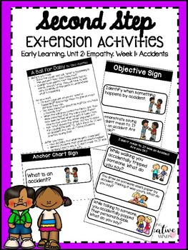 Second Step Extension Activities Unit 2 Week 11: Accidents