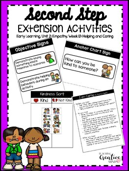 Second Step Extension Activities Unit 2 Week 12: Caring and Helping
