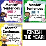 Second, Third, and Fourth Mentor Sentence Units Bundle (Grade 2)