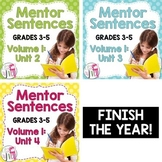 Second, Third, and Fourth Mentor Sentence Units (Vol 1) Bundle (Grades 3-5)