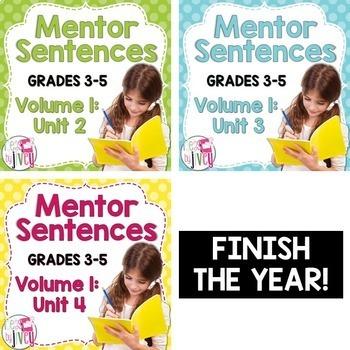 Second, Third, and Fourth Mentor Sentence Units (Vol 1) Bundle (Grades 3-5)