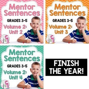 Second, Third, and Fourth Mentor Sentence Units (Vol 2) Bundle (Grades 3-5)