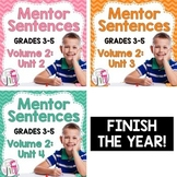 Second, Third, and Fourth Mentor Sentence Units (Vol 2) Bundle (Grades 3-5)