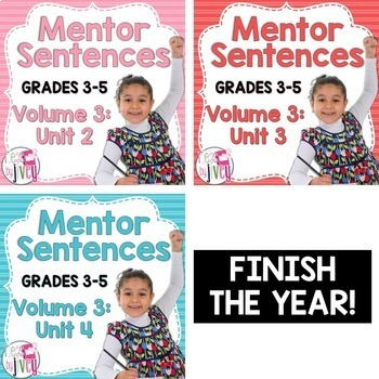 Second, Third, and Fourth Mentor Sentence Units (Vol 3) Bundle (Grades 3-5)
