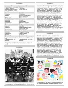 Second Wave Feminism (Document Packet) (1 of 2)