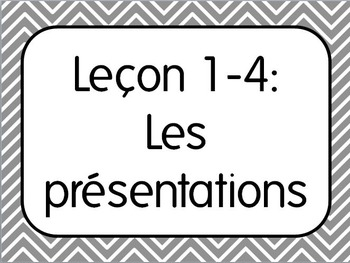 French I Unit 1 Lesson 4: Introductions & Names/Les presentations Lesson Plan