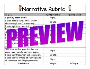 Second and Third Grade Narrative