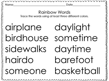 Second and Third Grade Word Work Pack