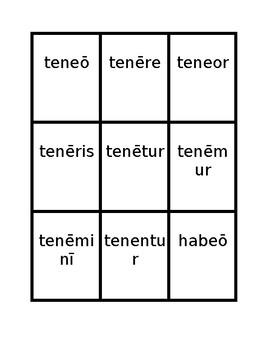 Second conjugation Present passive Latin verbs Spoons game / Uno game