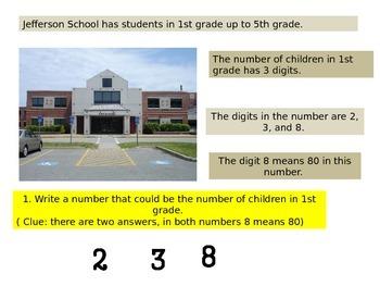 Second grade Beginning of Year Math Performance task 2015 version