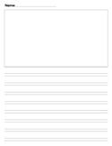 Second grade Journal writing paper Calkins No top line pap