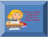 Second grade ~ Maravillas ~ Year at a Glance