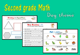 Second grade Math:  Dog theme