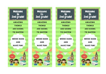 Second grade bookmarked