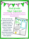 Second grade first & last day time capsule