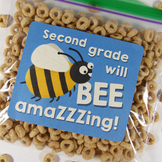 Second grade will be amazing! - Goodie bag labels - Back t