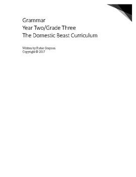 Second or Third Grade Grammar Workbook