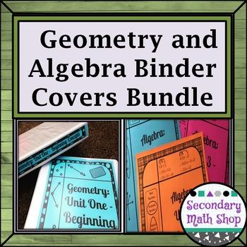Binder Covers Secondary Algebra and Geometry Bundle (Edita