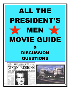 Secondary - All the Presidents Men Movie Guide and MORE!