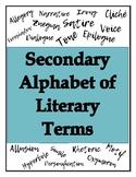 Alphabet of Secondary Literary Terms - Poster Set!