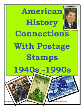 Secondary- Amercian History Connections with Postage Stamps