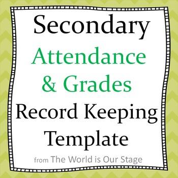 Secondary Attendance and Gradebook Grade Book Record Keepi