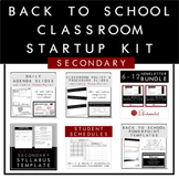 Secondary Back to School Classroom Startup Kit